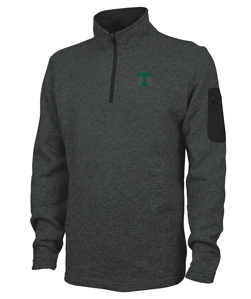 Charles River Heather Fleece Pullover Charcoal