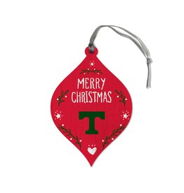 League Legacy Wood Christmas Ornament Red
