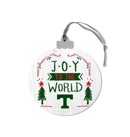 League Legacy Wood Christmas Ornament Joy To World