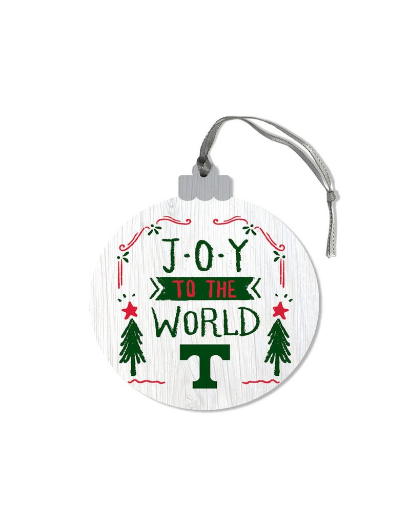 League Legacy Wood Christmas Ornament Joy To World