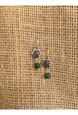 McTrinkets Shamrock Earring with Green Bead Drop