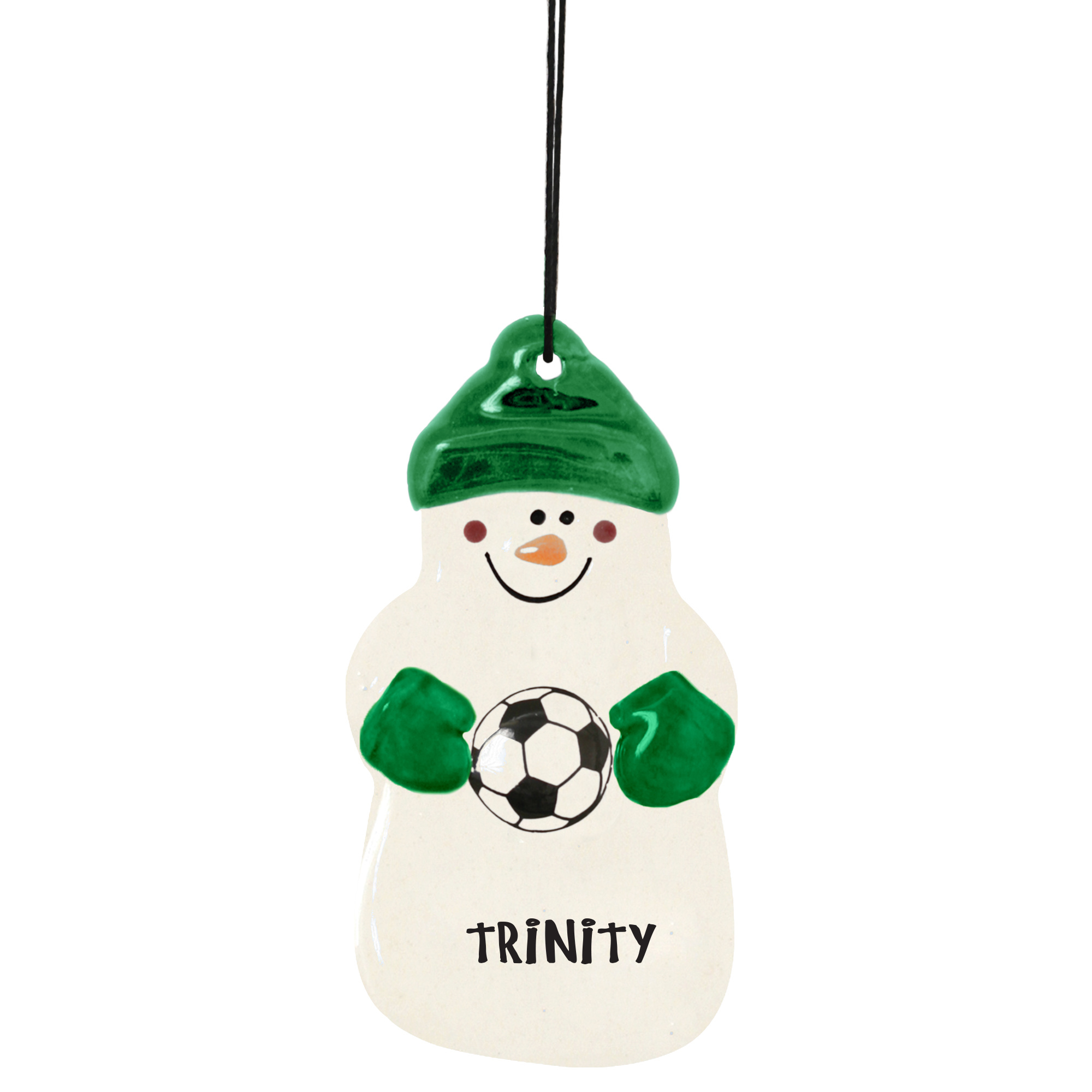 Snowman Ornament Soccer