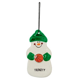 Spirit Products Snowman Ornament Basketball