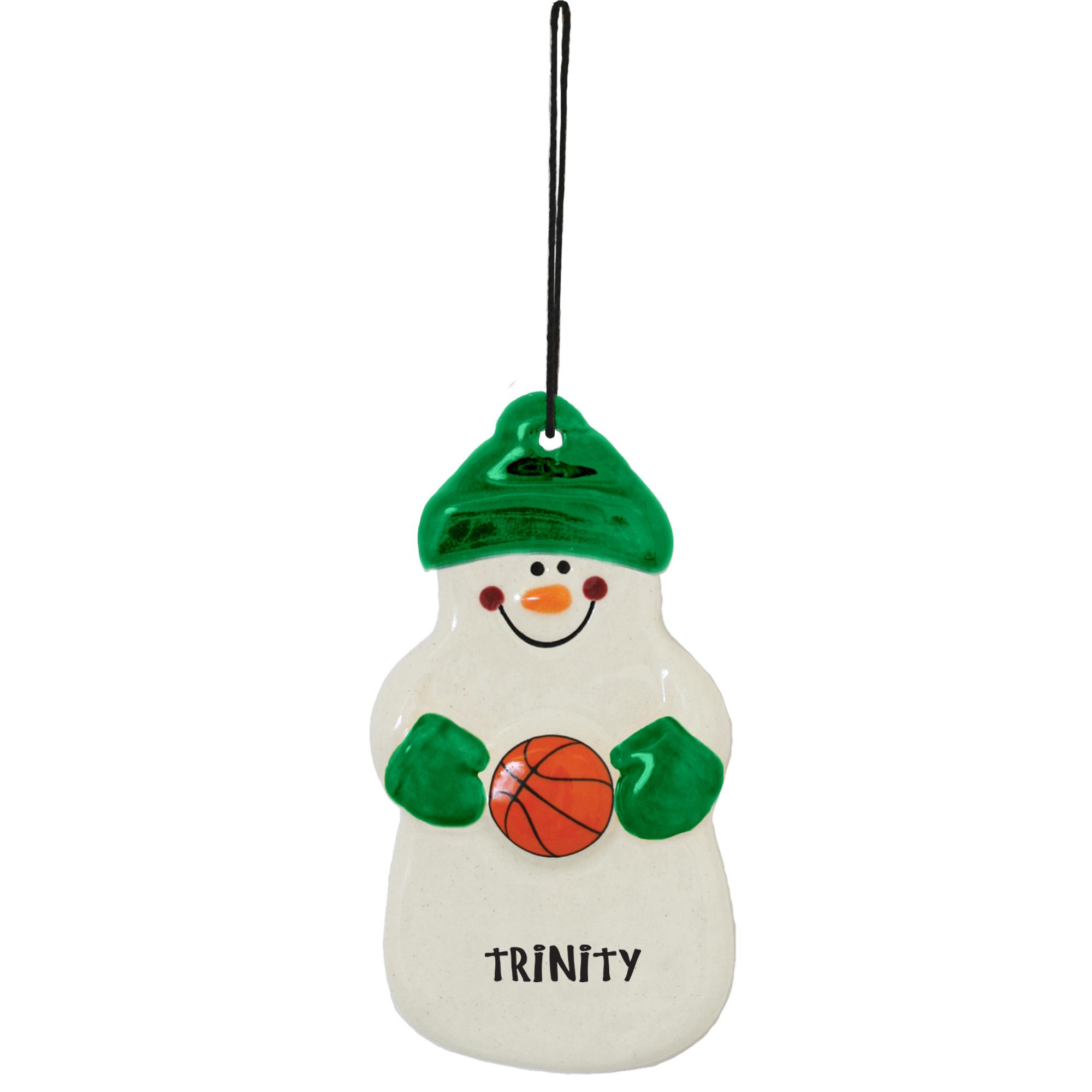Spirit Products Snowman Ornament Basketball