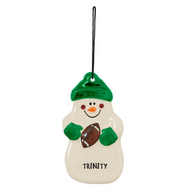 Snowman Ornament Football