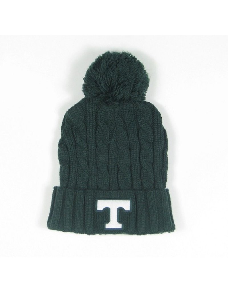 League Knit Green Cuff Beanie