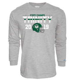 Blue 84 Final Sale 2019 State Football Champions Heather Long Sleeve Cotton Tee