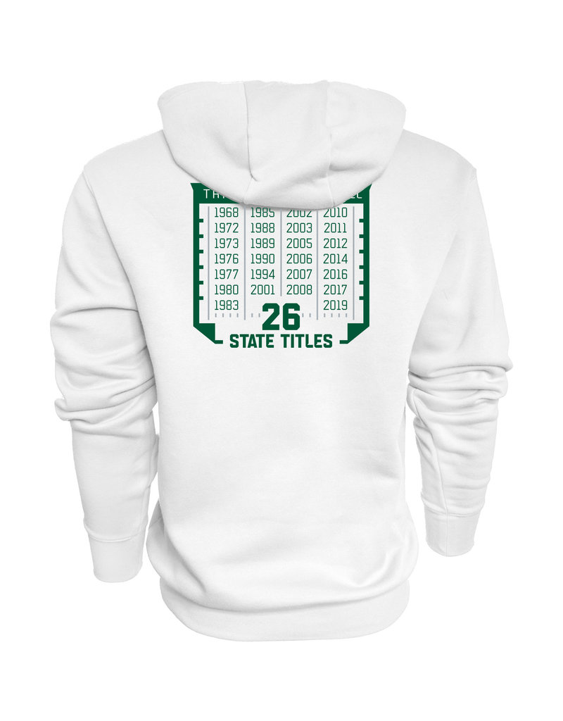 Blue 84 Final Sale 2019 State Football Champions White Hoodie