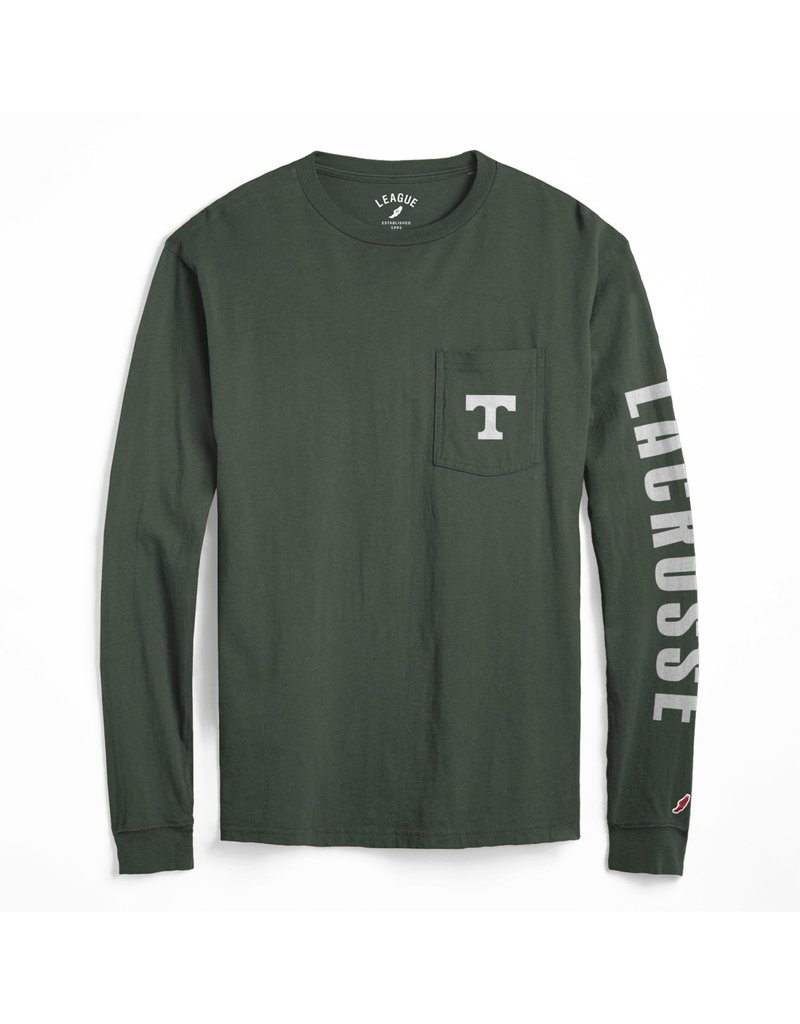 League Lacrosse Green Cotton Long Sleeve