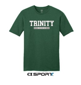 CI Sports Final Sale Green  Short Cotton 60/40 Tee XS left