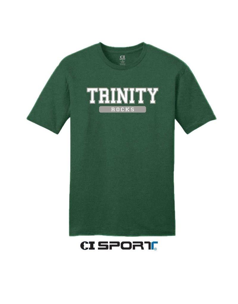 CI Sports Final Sale Green  Short Cotton 60/40 Tee XS left