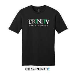 CI Sports Black  Short Prewash Soft Cotton Tee