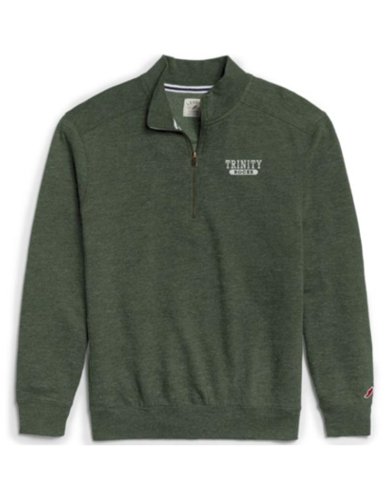 League League TriBlend Collegiate 1/4 Zip Green Heather