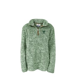 Summit Sportswear Flecked Double Plush 1/4 Zip