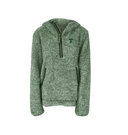 Summit Sportswear Ladies Quarter Zip Sherpa Pullover Hoodie