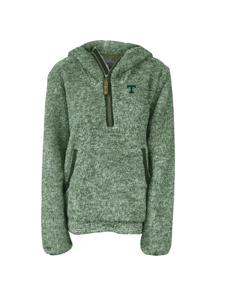 Summit Sportswear Ladies Quarter Zip Sherpa Pullover Hoodie