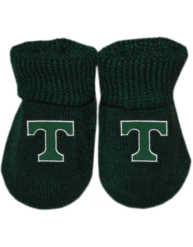 Creative Knitwear Creative Knitwear Green Newborn Booties
