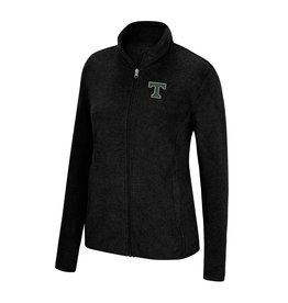 J America Women's Full Zip Black Fleece