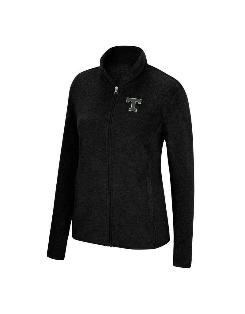 J America Women's Full Zip Black Fleece