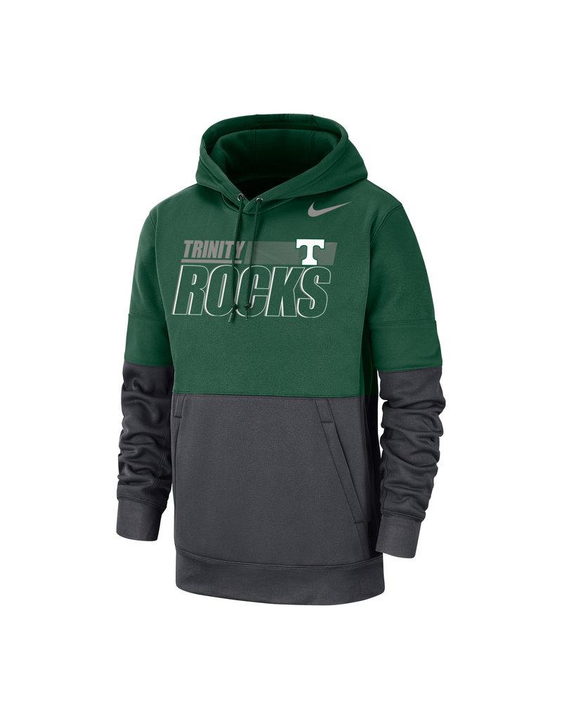 Nike Nike Therma PO Hoodie Green/Grey sideline NEW 2021