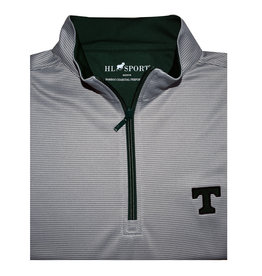 Horn Legend Performace Bambo Charcoal  Grey 1/4 Zip Green Fabric inside
