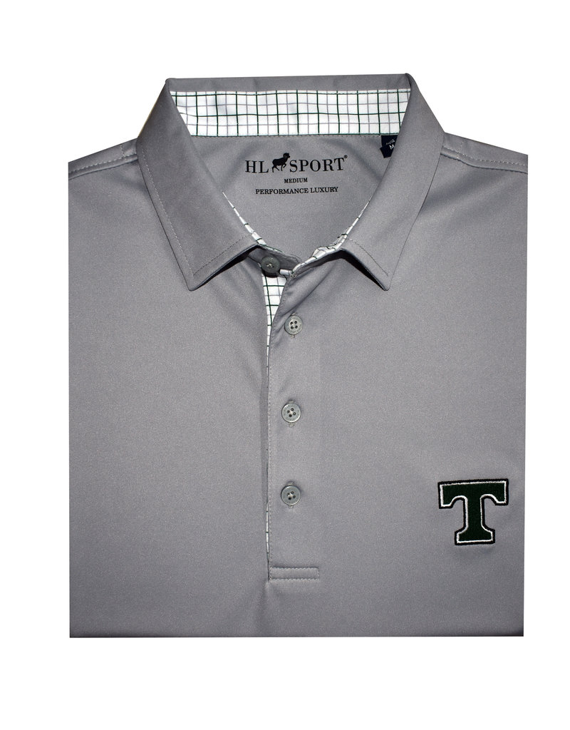 Horn Legend Performance Luxury Polo Grey with Nice Collar
