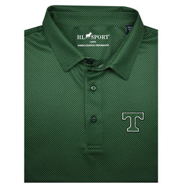 Horn Legend Bamboo Charcoal Performance Polo Green/Grey