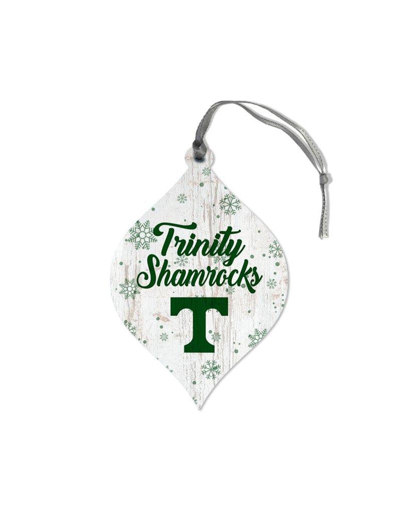 League Legacy Wood Christmas Ornament Snowflake Teardrop