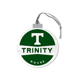 League Legacy Wood Christmas Ornament T Trinity Rocks