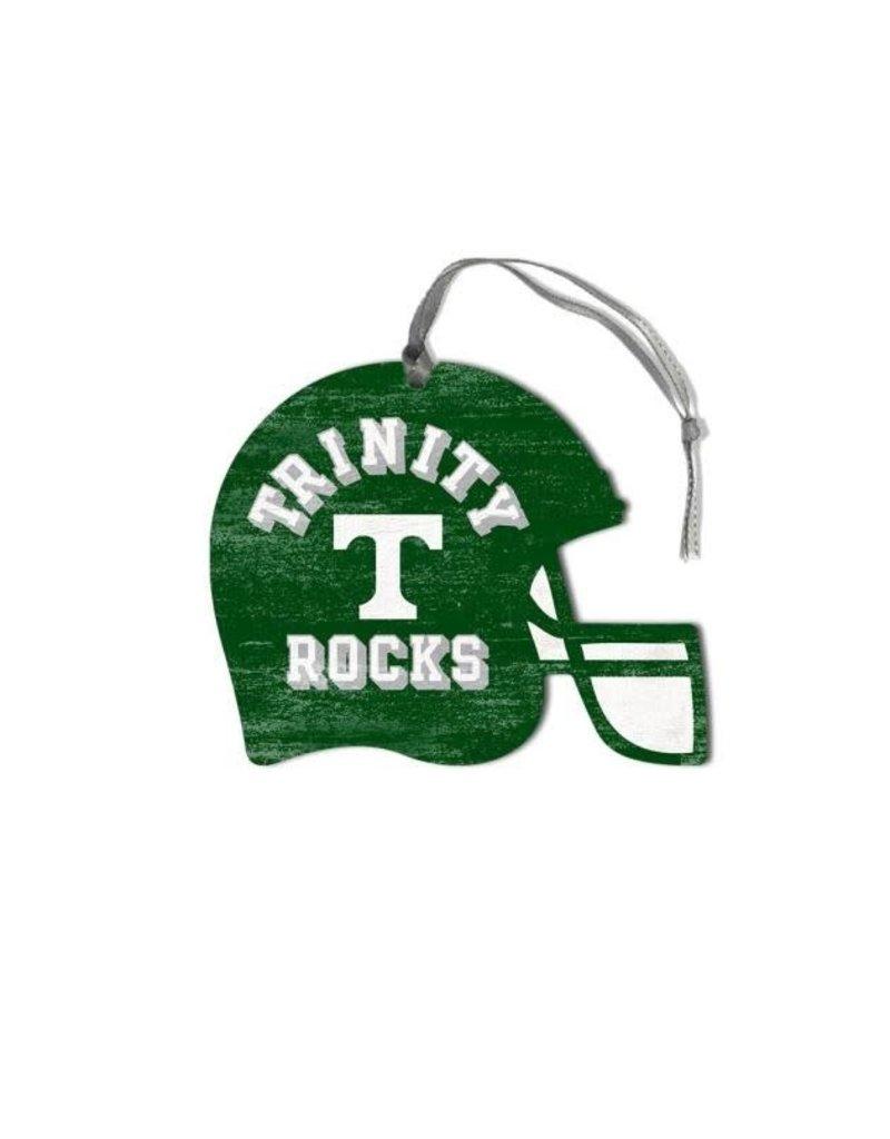 League Legacy Wood Christmas Ornament Football Helmet