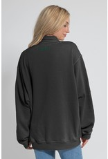 University Girls Chicka -d Worn Vintage 1/4 Zip with Pockets