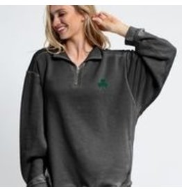 University Girls Chicka -d Worn Vintage 1/4 Zip with Pockets
