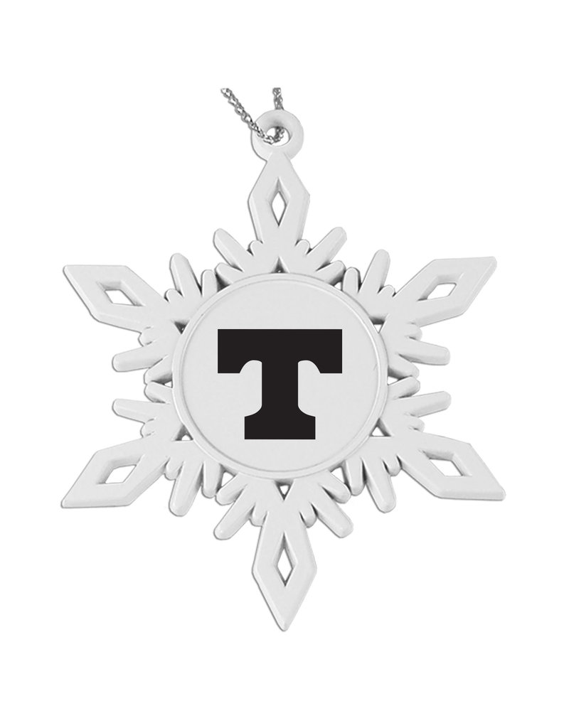 LXG Snowflake Ornament White Die Cast Metal