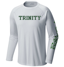 Columbia Final Sale Columbia Tackle White Dri-Fit  Long Sleeve