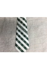 Eagles Wings New  White Green Block Tie with Shamrock
