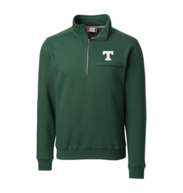 Clique/Cutter Buck Green Soft Cotton 1/4 zip School Approve