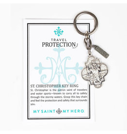 My Saint My Hero Travel Protection St. Christopher Keychain