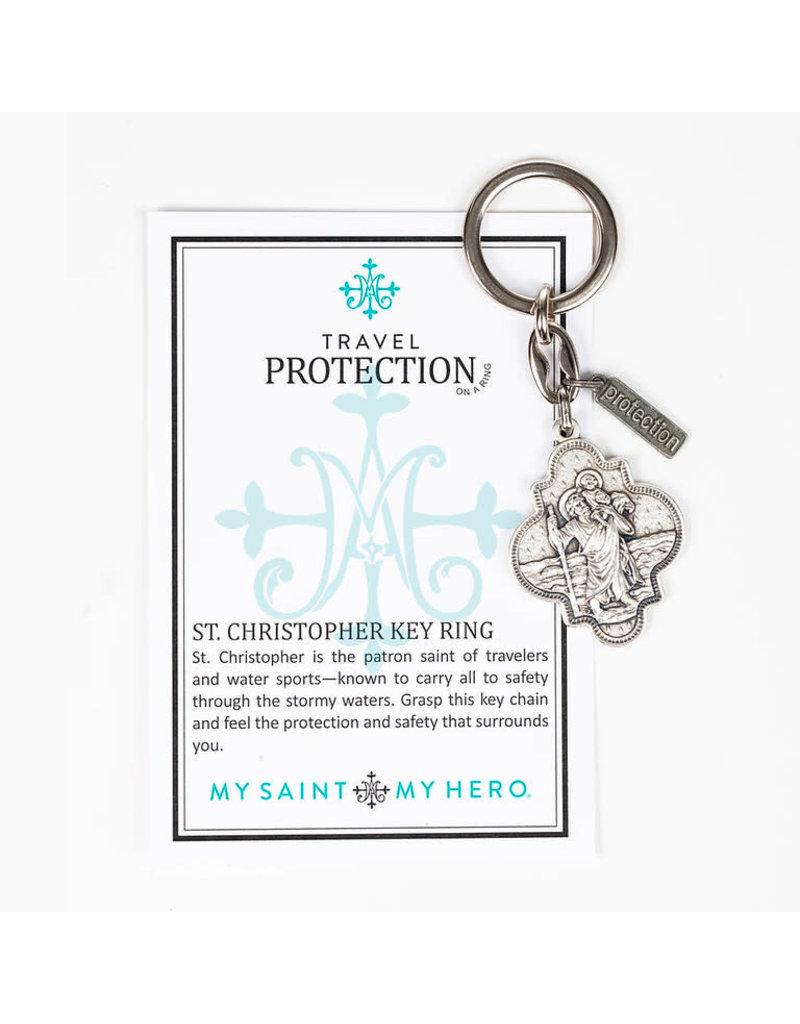 My Saint My Hero Travel Protection St. Christopher Keychain