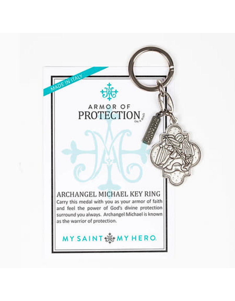 My Saint My Hero Armour of Protection St. Michael the Archangel Keychain