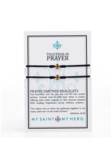 My Saint My Hero Prayer Partner Bracelet Gold