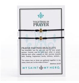 My Saint My Hero Prayer Partner Bracelet Gold