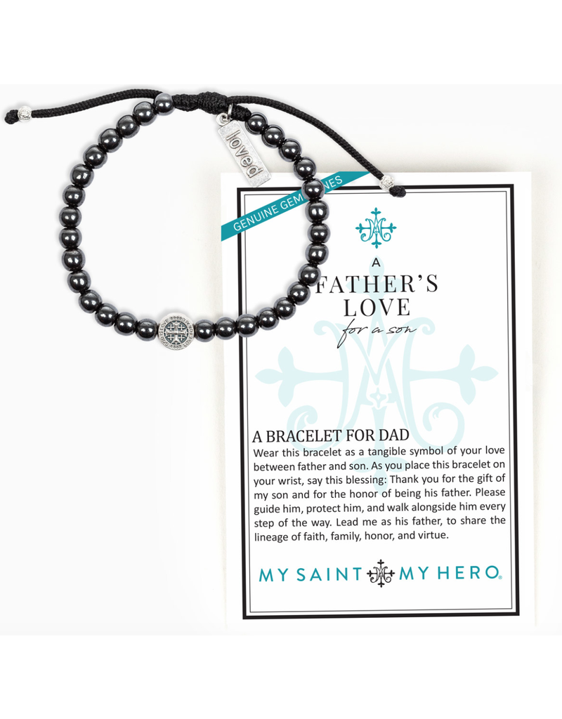 My Saint My Hero Father's Love for Son Bracelet