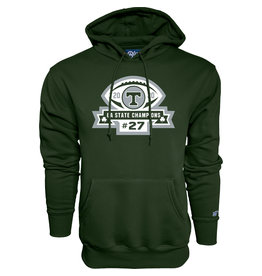 Blue 84 2020 State Football Champions Green Hoodie