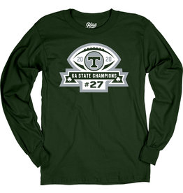 Blue 84 2020 State Football Champions Green Long Sleeve Cotton Tee