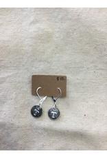 McTrinkets Circle Stamp Power T earrings