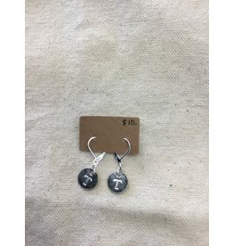 McTrinkets Circle Stamp Power T earrings