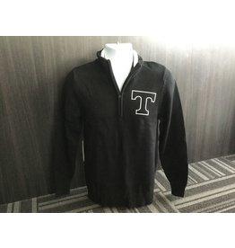 1/4 Zip Black Knit Sweater