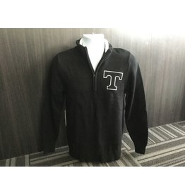 Nelson 1/4 Zip Black Knit Sweater