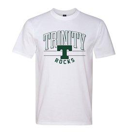 MV Sports Trinity Ringspun Cotton White Tee -Rocks Tee