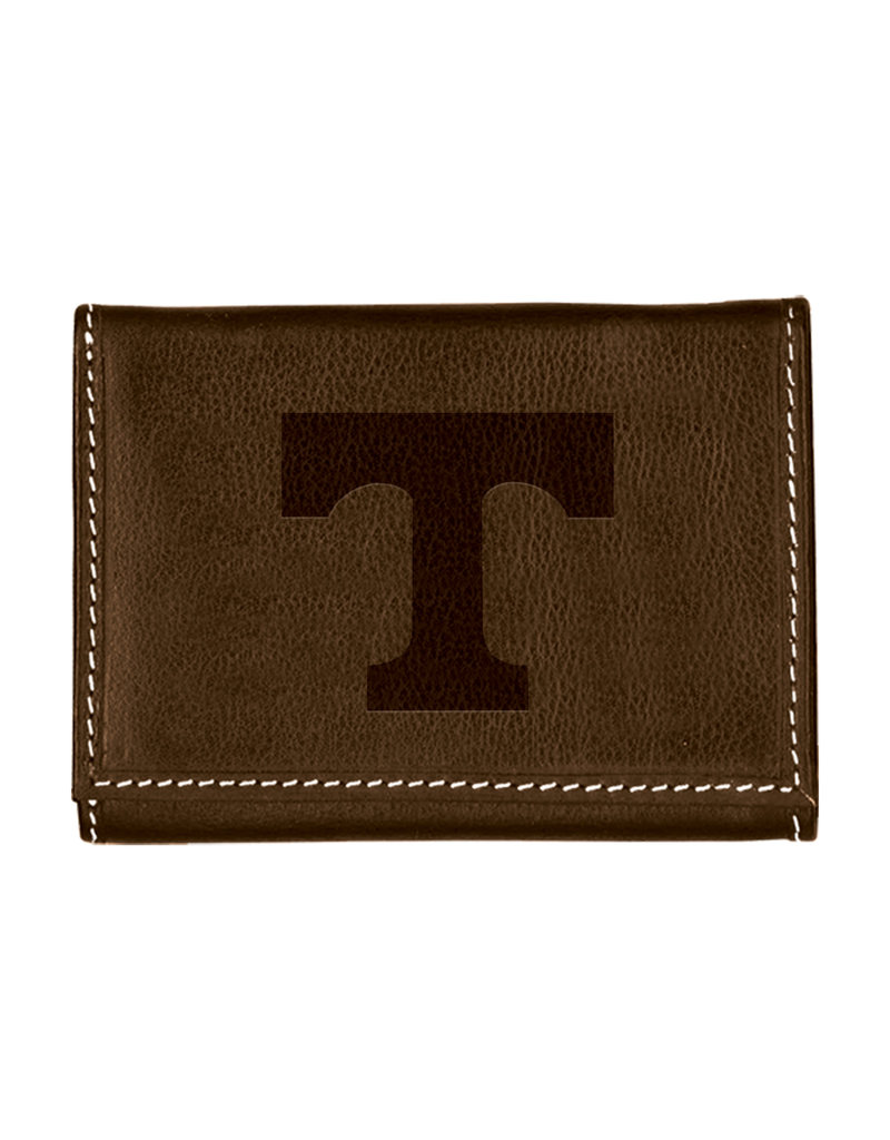 Carolina Sewn Trifold Wallet Embossed Power T- Coffee